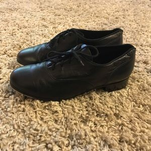 Bloch Womens 9.5 Black Leather Tap Shoes Lace Up